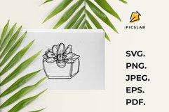 Flower pot - Flower plant - Flower clip art - House plant Product Image 5