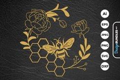 Honey Bee Papercut Product Image 1