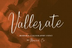 Vallerate Caligraphy Product Image 1