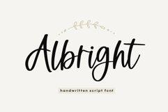 Web Font Albright - A Handwritten Script Font Product Image 1