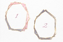 Gold frames Blush pink Navy and Grey watercolor texture Product Image 2