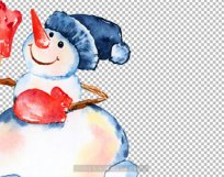 Watercolor snowman clipart, Cute Christmas diy Winter Product Image 4