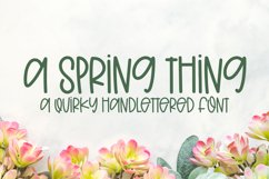 A Spring Thing - A Quirky Handlettered Font Product Image 1