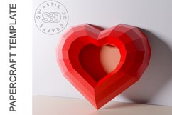 PDF Template of heart with image /Gift heart Papercraft Product Image 4