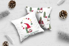Watercolor christmas gnomes clipart, Christmas card design Product Image 5