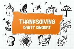 Web Font Thanksgiving Party Dingbat Font Product Image 1