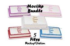 Sheet Cake Mockup Bundle, Edible Cake Print Mock Up Display Product Image 1