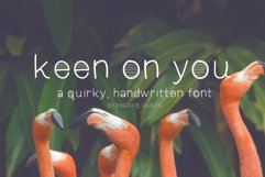 Keen On You a quirky, handwritten font with skinny lines Product Image 1