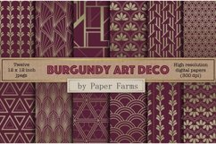 Burgundy Art Deco backgrounds Product Image 1