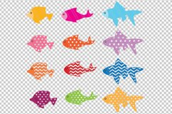 Fish svg dxf cutting files Product Image 2