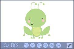 Grasshopper SVG | Cute Bug SVG Product Image 1