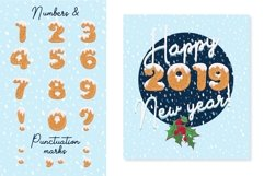 Xmas cartoon cookie font family Product Image 3