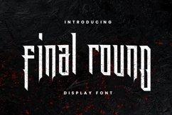 Web Font Final Round Font Product Image 1