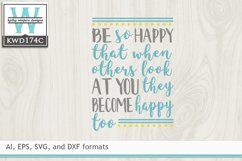 Happy SVG - Be So Happy Product Image 2