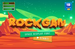 Rockgan Space Display Font Product Image 1