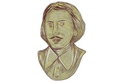 Christopher Marlowe Bust Drawing Product Image 1