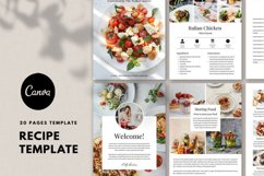 Recipe template, Recipe Ebook, Food, Cookbook template canva Product Image 1