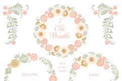 Glitter Floral Peach chic collection. 50% off Product Image 4