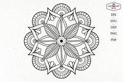 Mandala boho for cutting. Contour, silhouette. Product Image 2