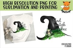 Bad Witch Vibes Sublimation Design for t-shirts Product Image 1