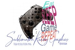 Gamer Eat Sleep Game Repeat Sublimation Ready Product Image 1