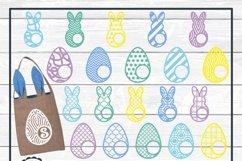 Easter Bunny and Egg Monogram Frame Bundle, SVG Cut Files Product Image 5