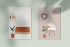 Bohemian Decor Illustrations, interior design, furniture cli Product Image 3