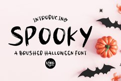 SPOOKY Halloween Distressed .OTF Font Product Image 1