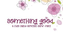 Web Font Something Good - A Cute Hand-Lettered Serif Font Product Image 1
