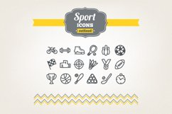 Hand Drawn Sport Icons Product Image 1