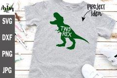 Two Rex, 2nd birthday Dinosaur SVG tyrannosaurus rex svg Product Image 1