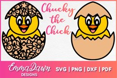 CHUCKY THE CHICK SVG 2 MANDALA ZENTANGLE EASTER DESIGNS Product Image 1