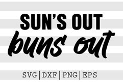 Suns out buns out SVG Product Image 1