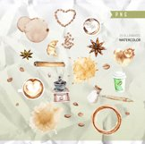 Coffee clipart, Cafe clipart, Food Watercolor clipart Product Image 3