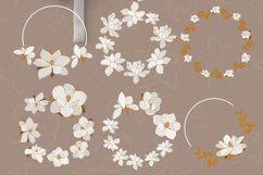 Magnolia flowers clipart. Abstract art Product Image 5