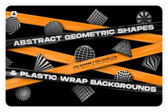 Abstract geometric shapes & Plastic wrap backgrounds bundle Product Image 1