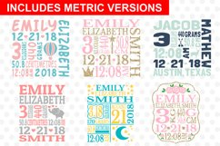 Baby Birth Announcement Template Bundle Product Image 3