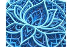 M136 - Lotus Flower Mandala, Shadow Box Mandala SVG DXF Product Image 6