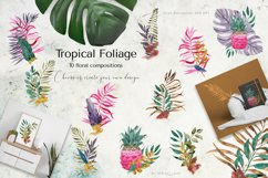 Tropical Foliage Watercolor Set Product Image 13