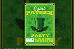 St Patrick Day Hat Flyer Product Image 1