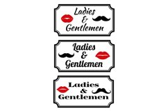 Ladies and gentlemens with lips and mustaches Product Image 1