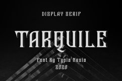 Tarquile Game Font Product Image 1