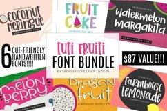 Tuti Fruiti Font Bundle- Handwritten Font 6 Pack Product Image 1