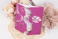 Water Lily Invitation cutting file Product Image 2