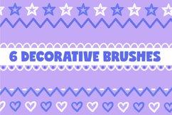 Procreate Brushes   Cute Procreate Stamps, Kawaii Brushset Product Image 5