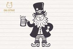 St. Patricks day svg, Leprechaun, Leprechaun with Beer Mug Product Image 3