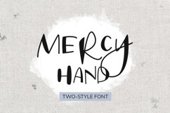 Mercy Hand - a two-style handwritten font Product Image 1