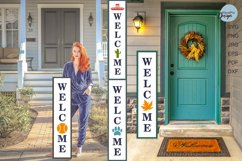Create Your Own Porch Sign WELCOME SVG Cut File Bundle Product Image 2