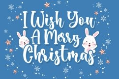 Bunny Christmas Cute Script Font Product Image 2