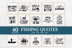 40 Fishing svg bundle png eps dxf - Fishing Quotes svg Product Image 2